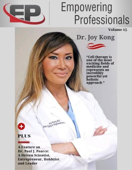Dr. Joy Kong featured on cover of EP Magazine